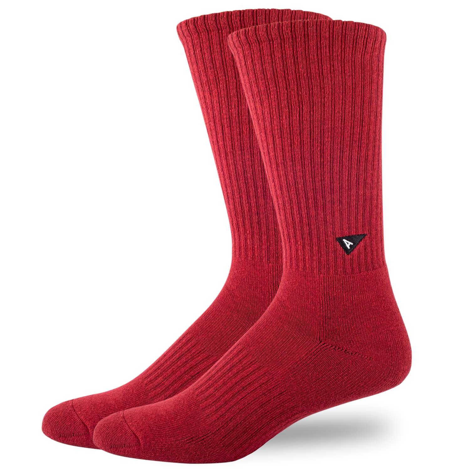 Arvin Goods Crew Sock Long - Burgundy