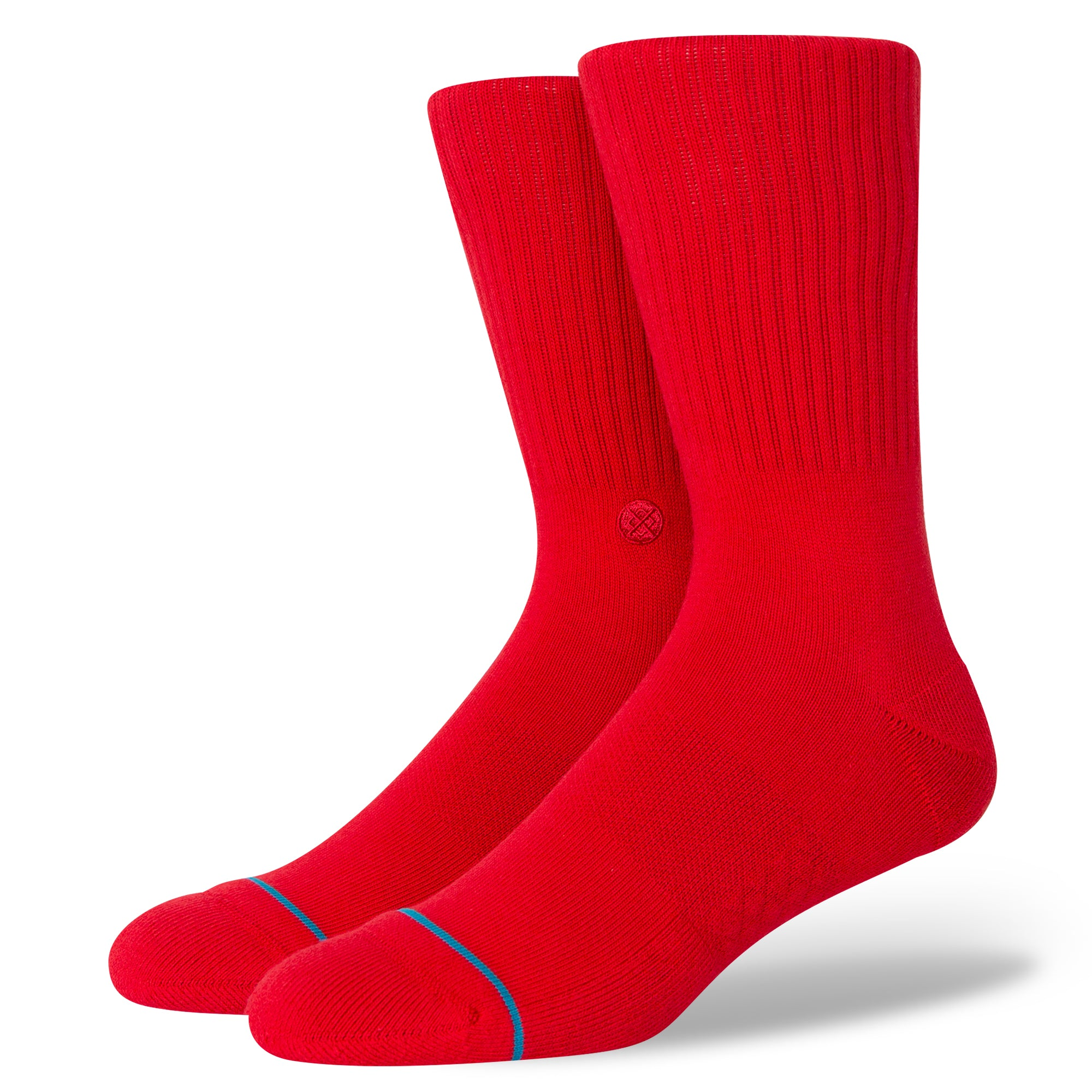 Stance Icon Staple Crew Socks - Red