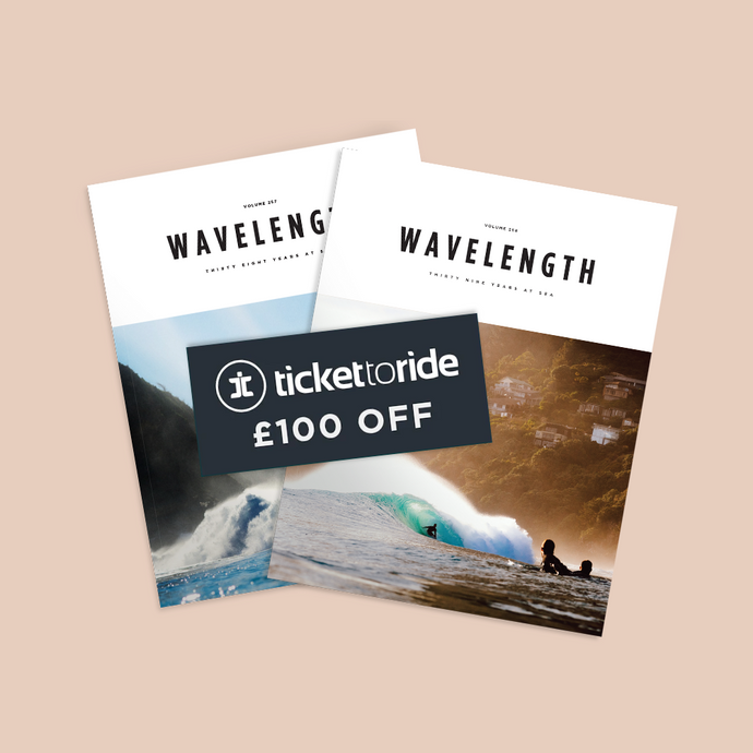 Annual Subscription PLUS £100 Voucher for the Ticket to Ride Sri Lanka Surf House