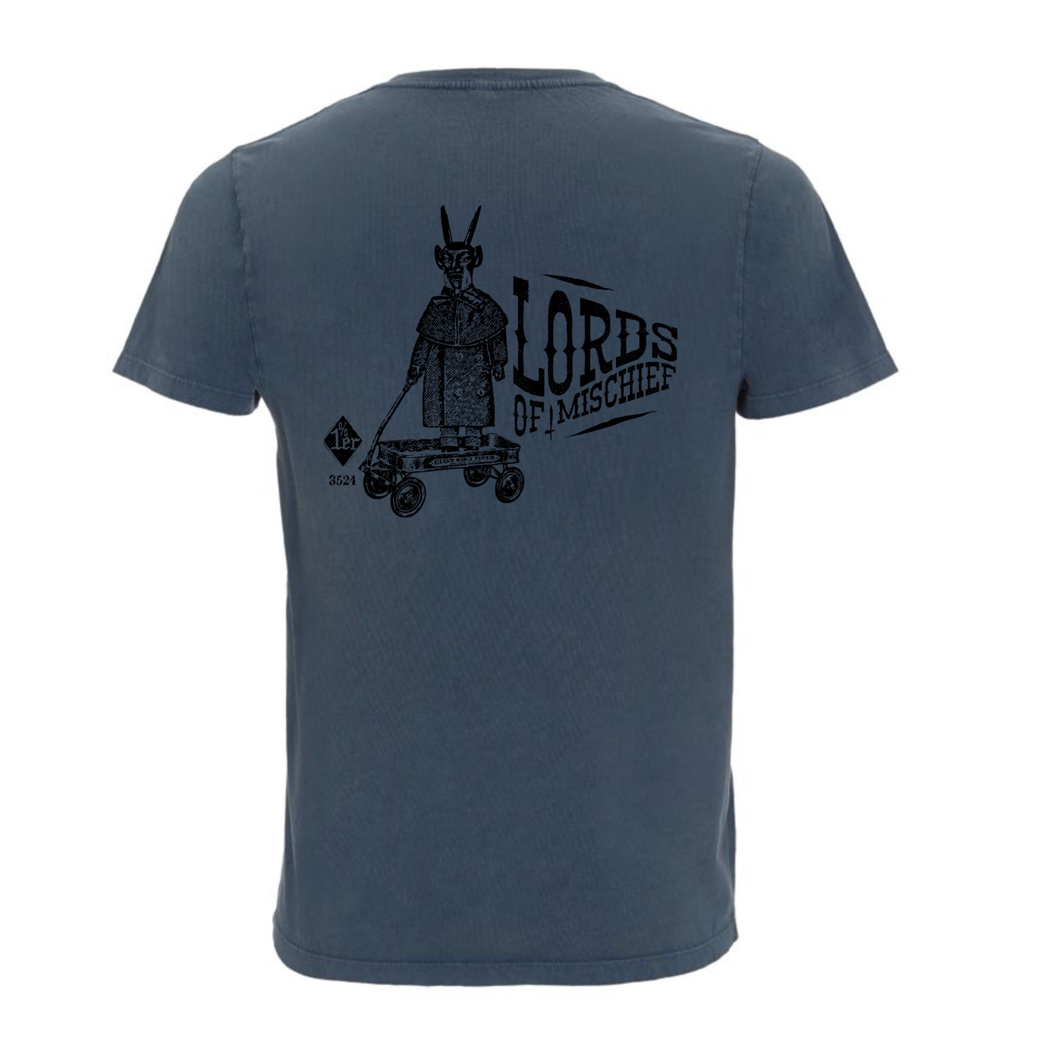 Hoy Lords Of Mischief Organic T-shirt - Dusty Blue