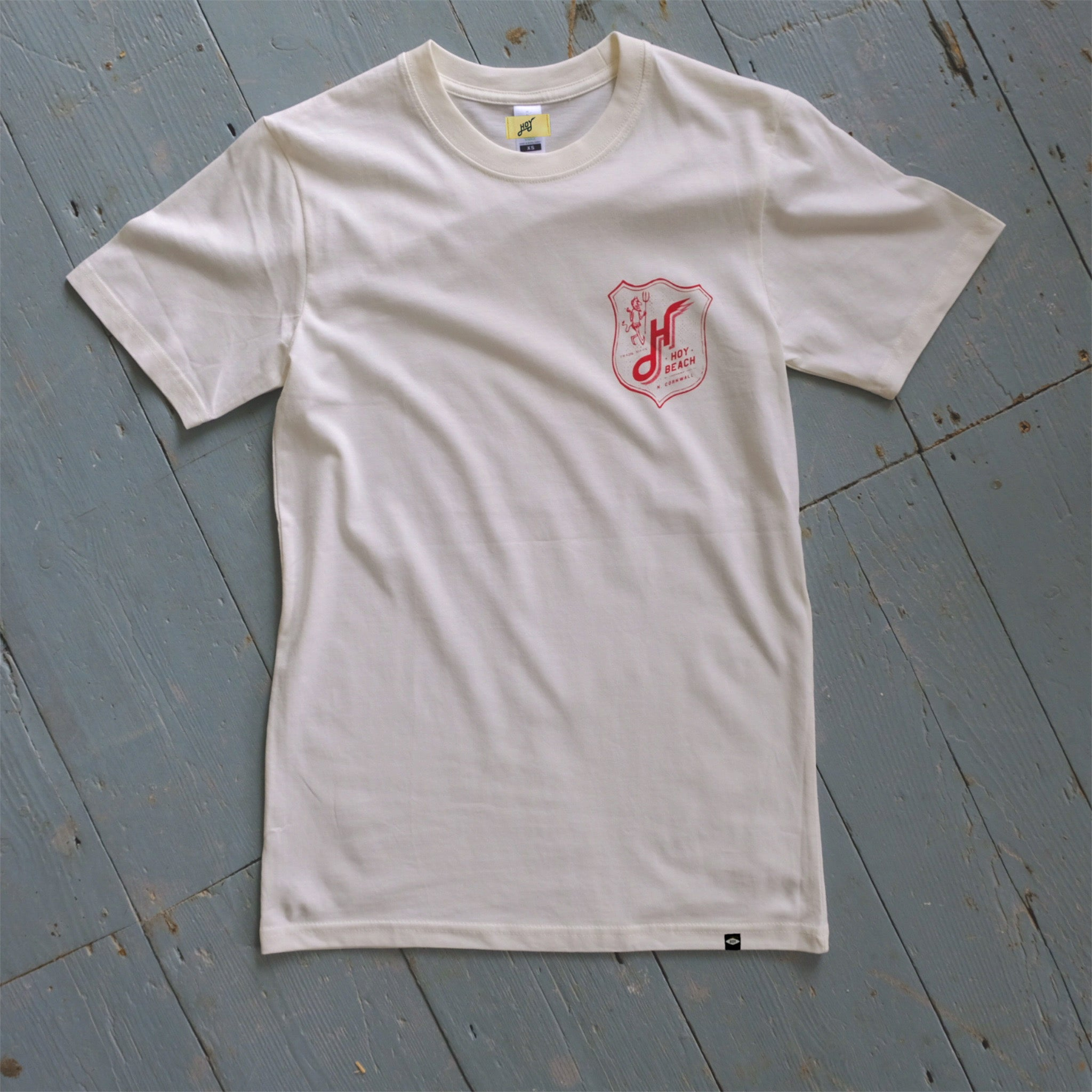 Hoy Beach Organic T-shirt - Natural