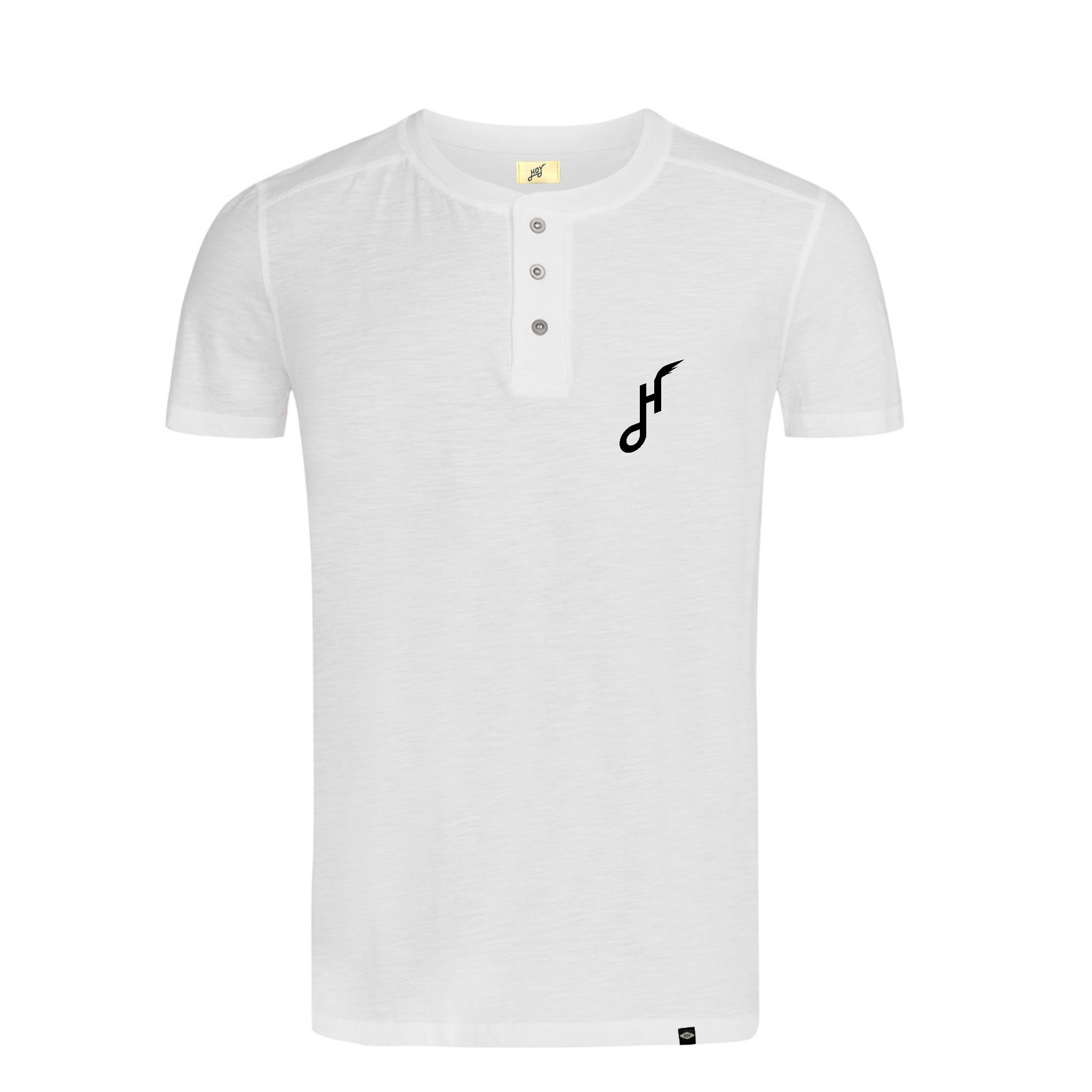 Hoy Downtown Short Sleeve Henley T-Shirt - White