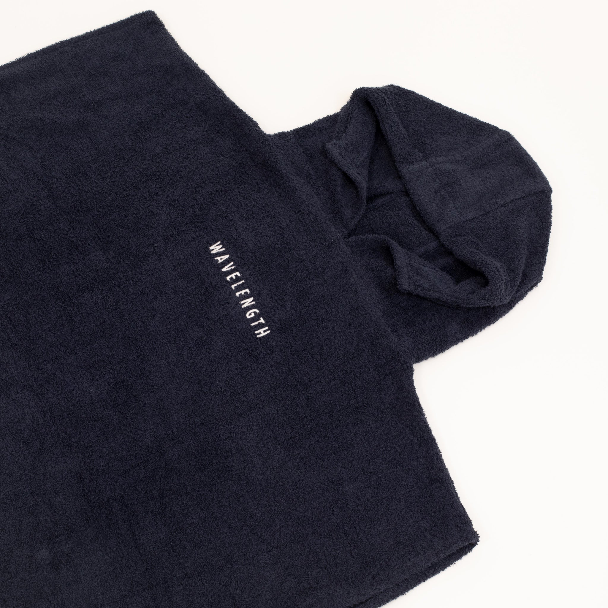 Wavelength Embroidered Change Towel - Navy
