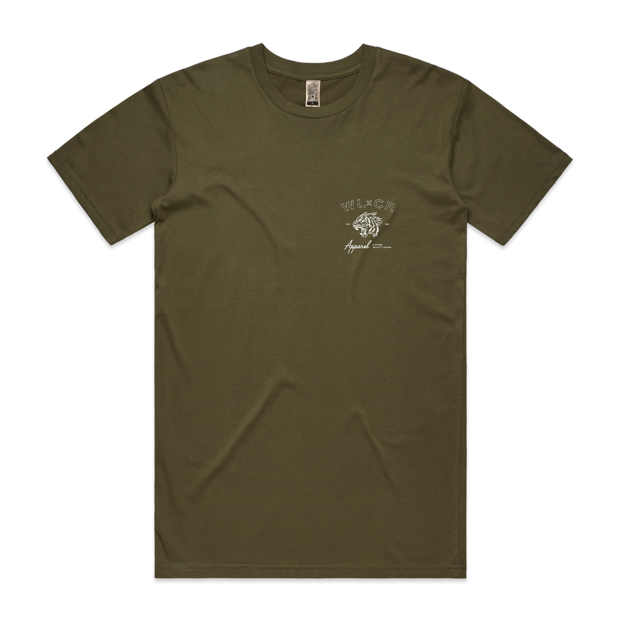 WLCR Easy Tiger T-Shirt - Army Green