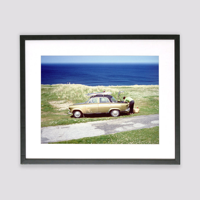 Retro Wagon Framed Print