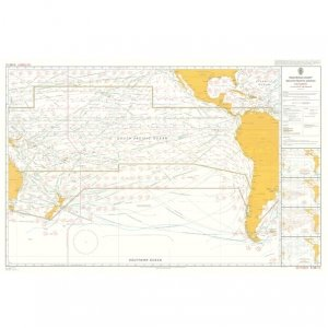 Mariners'Routeing Chart South Pacific Ocean