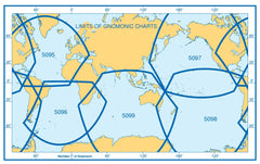 A Gnomonic Planning Chart For Great Circle Sailing, Southern Atlantic and Southern Oceans