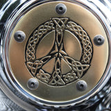 celtic peace sign point cover brass
