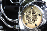 Large Skull 5 Bolt Twin Cam HD Point Cover
