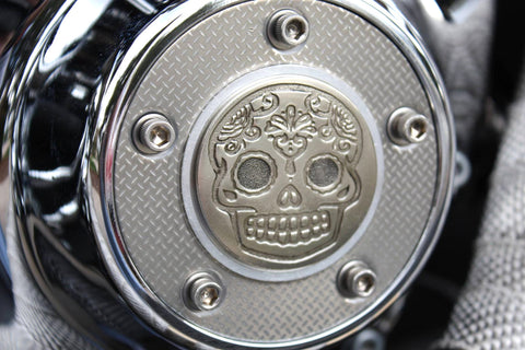 sugar skull badge