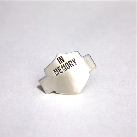In Memory Chevron Pin