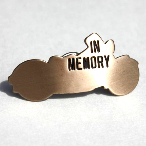 In Memory Bike Pin