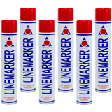 Aerosol Solutions Line Marker Paint 750ml 6 Pack