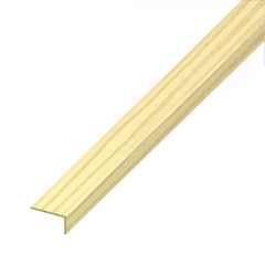 Alfer PVC Plastic Wood Effect Unequal Sided Angle Edging Corner Furniture Protection Profile Trim - Beech