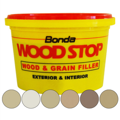 Bonda Ready Mixed One Part WoodStop Wood and Grain Filler 250ml Light Oak