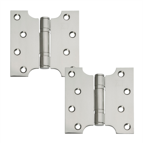 "Excel Small Button Top Washered Parliament Swing Hinges 4"" x 2"" x 4"""