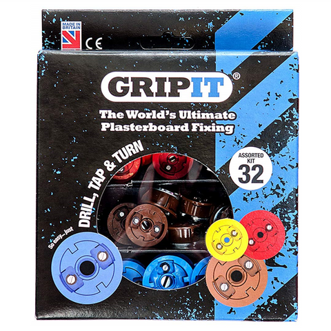 GripIt 32 Piece Plasterboard Fixing Assorted Kit