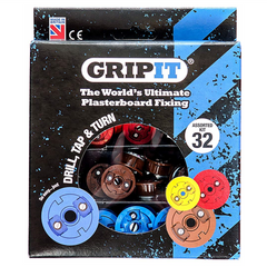 GripIt GASSORTKIT 32 Piece Plasterboard Fixing Assorted Kit