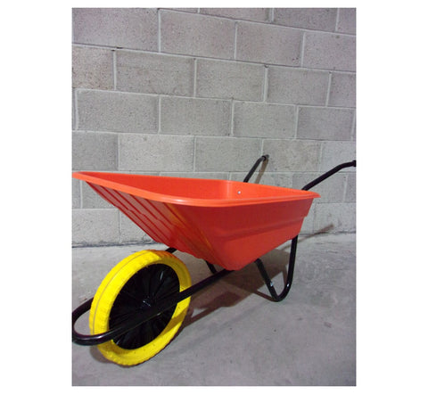 Walsall 90L Shire Builders Orange Wheelbarrow In A Box 125kg Puncture Proof