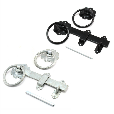 Plain Ring Handle Gate Latch 7""