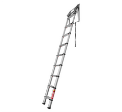 "Telesteps 60324 Loft Line ""Mini"" Telescopic Loft Ladder (2.35 - 2.45m Ceiling Height)"