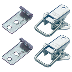 Protex Light Duty Non-Adjustable Mild Steel Locking Toggle Latch Fasteners & Catch Plates Set 195kg