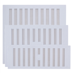 Rytons Plastic Hit & Miss Ventilator Grille Air Ventilation Cover with Flyscreen - White