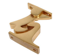 Shepherds 2268 Woodpecker Automatic Gravity Door Holder Hold Open Catch - Polished Brass