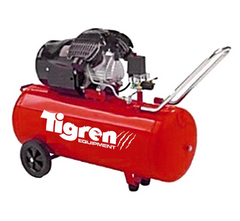 Tigren 04388 V100DD Twin Head 100 Litre Direct Drive 2-Cylinder Oil Lubricated Pump Air Compressor 3hp 2.2kW