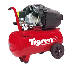 Tigren 04387 V50DD Twin Head 50 Litre Direct Drive 2-Cylinder Oil Lubricated Pump Air Compressor 3hp 2.2kW
