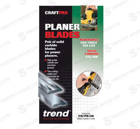 Trend CR/PB29 Craft Pro Planer Blade 82mm 2 Pack