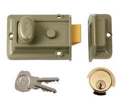 Yale B77-ENB-PB-60 Traditional Front Door Rim Cylinder Night Latch Lock 60mm - Green