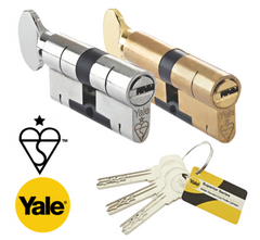 Yale High Security Superior 1 Star Euro Profile Cylinder Thumbturn Lock Anti Snap Bump uPVC Door Barrel