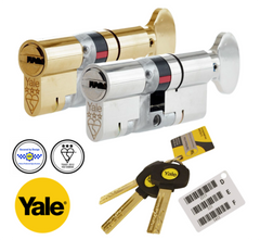 Yale Maximum Security Platinum 3 Star Euro Profile Cylinder Thumbturn Lock Anti Snap Bump uPVC Door Barrel
