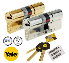 Yale Maximum Security Platinum 3 Star Euro Profile Double Cylinder Lock Anti Snap Bump uPVC Door Barrel