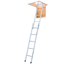 Youngman 302340 Spacemaker Aluminium 2 Section Sliding Loft Attic Access Ladder EN14975