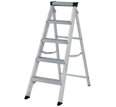 Youngman 30599618 Aluminium Heavy Duty Professional Class 1 Builders Stepladder EN131 - 5 Tread 2.18m