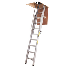 Youngman 306340 Deluxe Heavy Duty Aluminium 2 Section Sliding Loft Attic Access Ladder EN14975