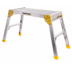 Youngman 310898 Odd Job Aluminium Folding Step Hop Up Trade Work Bench Platform