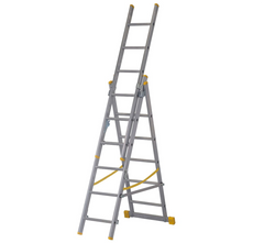 Youngman 34038118 Combi 100 4 in 1 Triple 3 Section Aluminium Combination Ladder EN131 1.84m