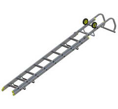 Youngman 57663000 Double 2 Section Lightweight Aluminium Roofing Ladder 3.21m
