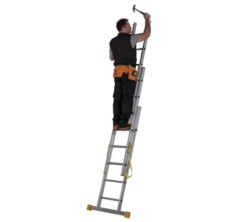 Youngman Combi 100 3 Section Aluminium Combination Ladder