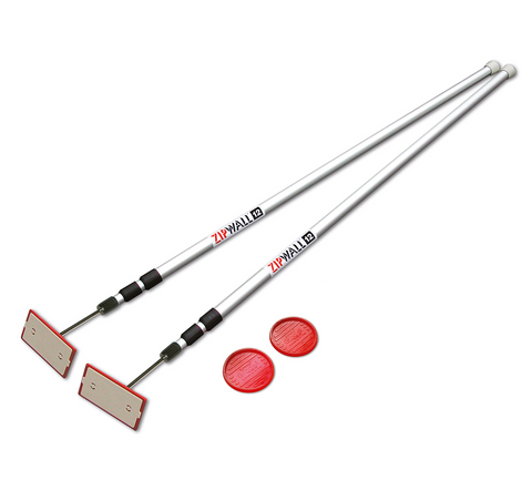 ZipWall SLP2 12' Spring-Loaded Poles 2 Pack