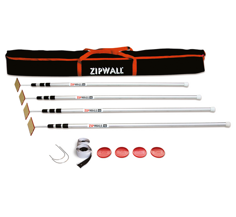 ZipWall SLP4 12' Spring-Loaded Poles 4 Pack