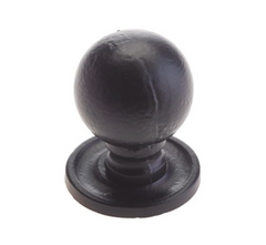 Zoo Hardware FF32 Foxcote Foundries Ball Cupboard Cabinet Door Knob Handle 36mm - Black Antique