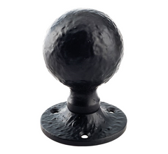 Zoo Hardware FF415M Foxcote Foundries Ball Mortice Door Knob 55mm - Black Antique