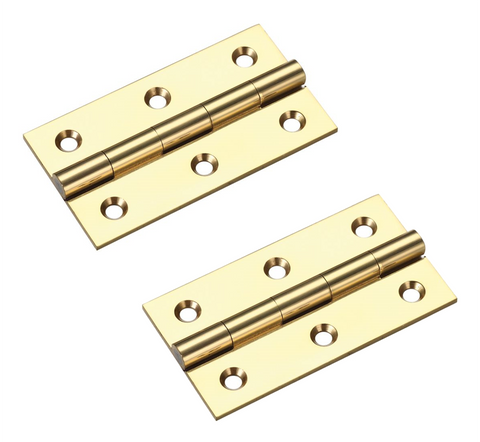 Zoo Hardware TDF Solid Drawn Brass Unwashered Butt Hinges