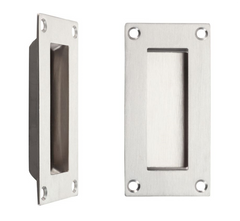 Zoo Hardware ZAS10 Rectangular Recessed Flush Pull Door Handle - Satin Stainless Steel