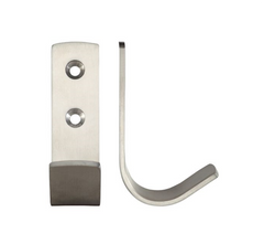 Zoo Hardware ZAS72 Single Flat Coat Wall Mounted Hanger Hook - Satin Stainless Steel