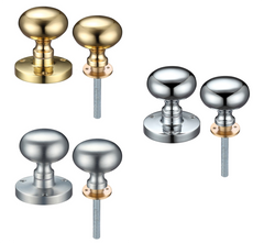 Zoo Hardware ZCB35R Mushroom Mortice Rim Lock Knob Set